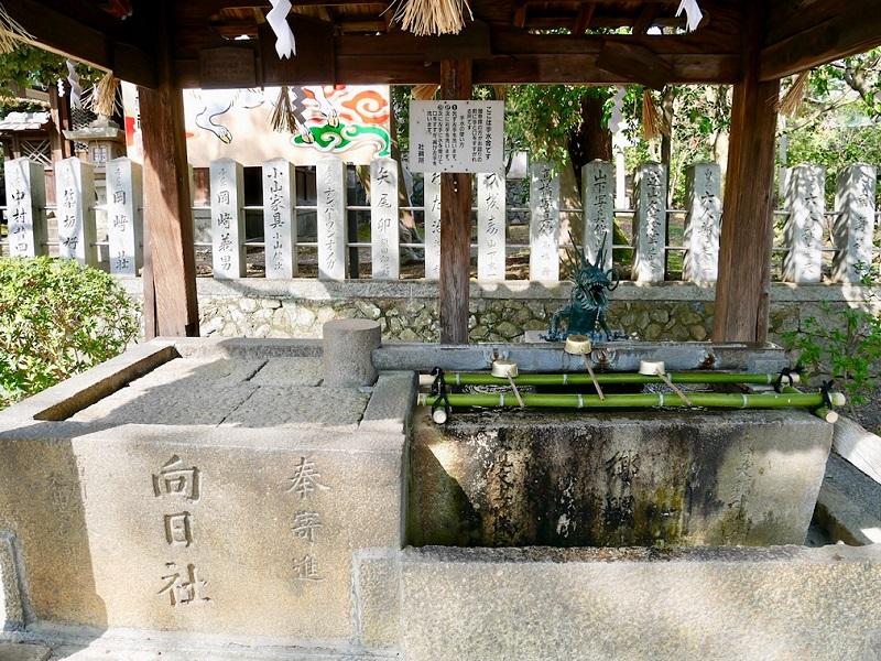 京都 向日神社 手水舎