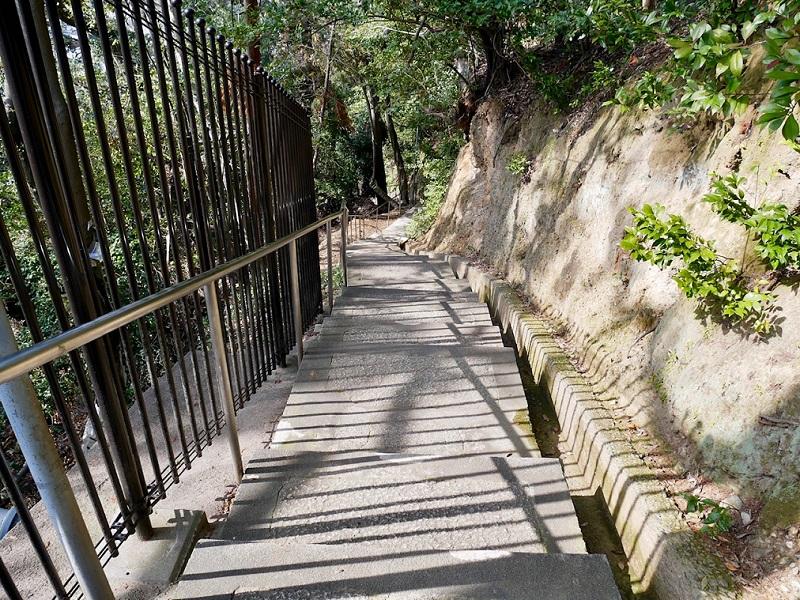 増井神社へ続く階段
