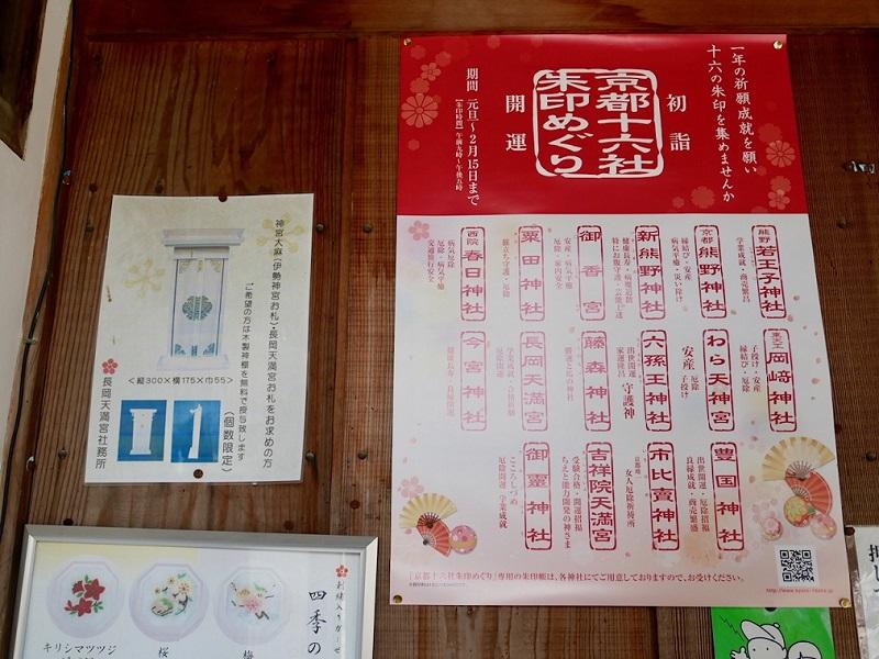 京都十六社朱印めぐりのポスター
