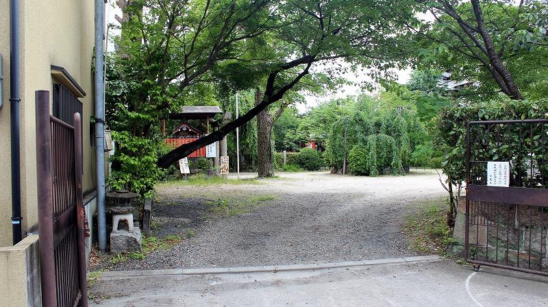 京都 長建寺 駐車場
