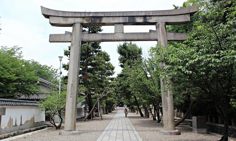 京都 御香宮神社 表門の鳥居