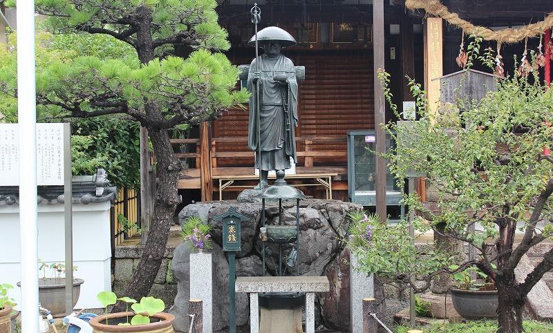京都 勝龍寺 修行大師像