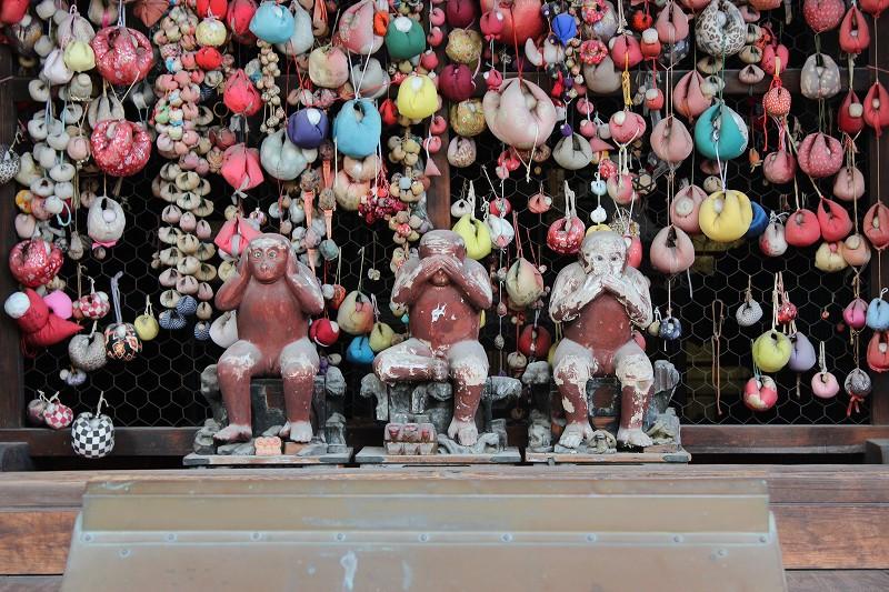 京都 金剛寺(八坂庚申堂)三体の猿