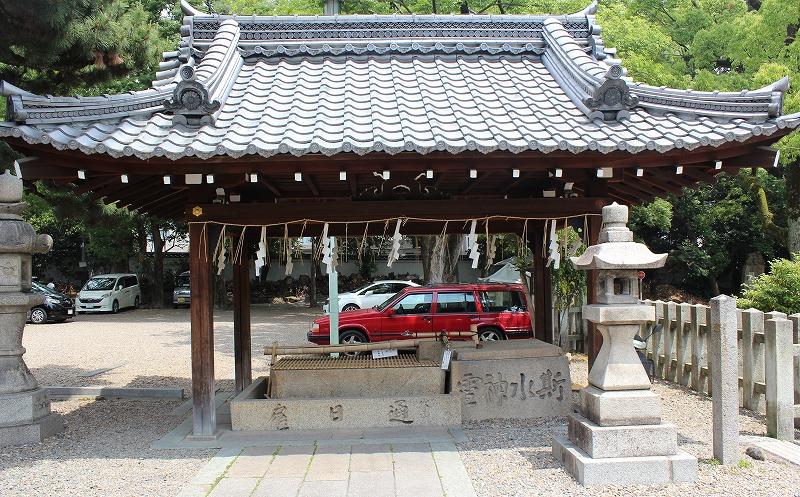 京都 御香宮神社 手水舎