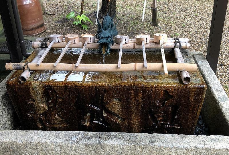 京都 五条天神 手水舎