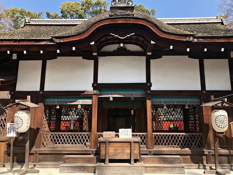 京都 河合神社 拝殿