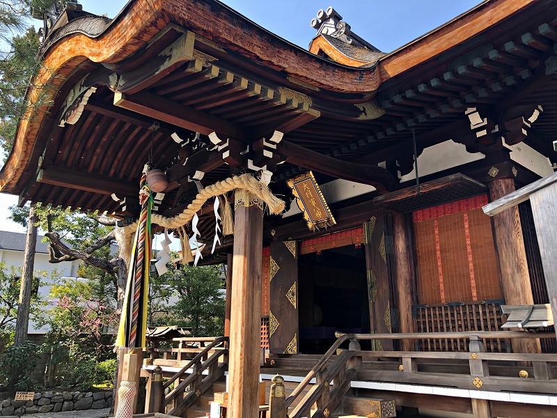 京都 大将軍八神社 本殿