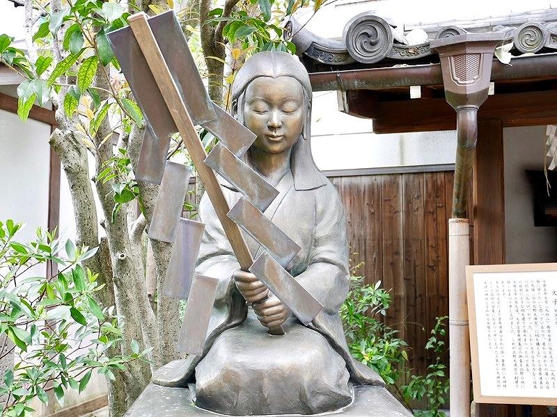 京都 文子天満宮 多治比文子の像