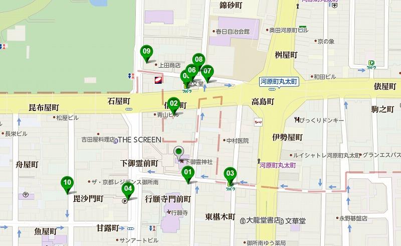 下御霊神社の駐車場