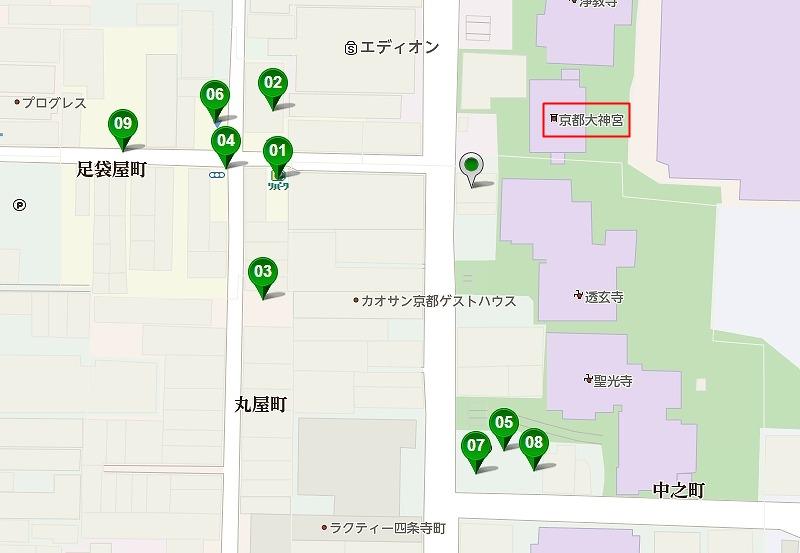 京都大神宮 駐車場