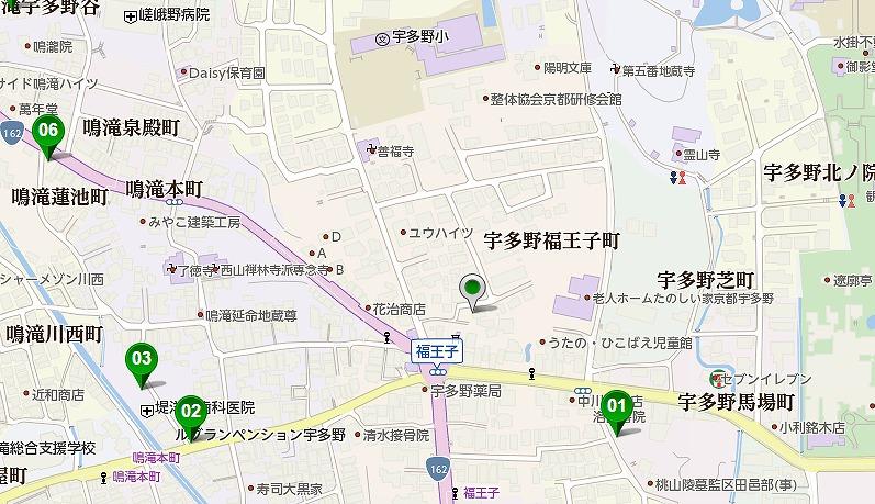 京都 福王子神社の駐車場