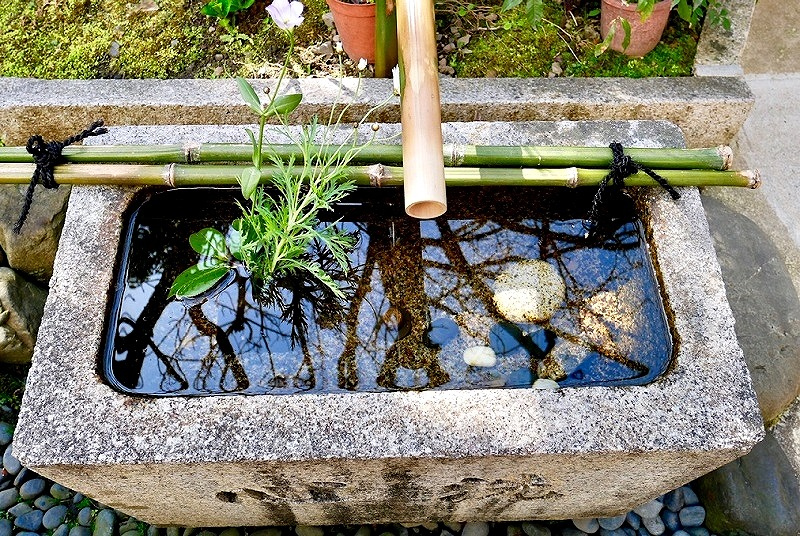 京都 宝蔵寺 手水舎