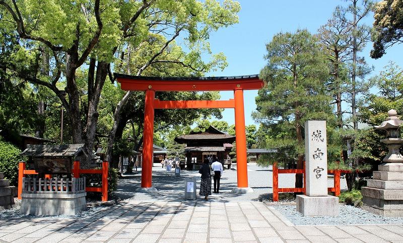 京都 城南宮 入口